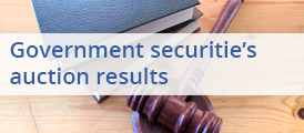Government securitie's auction results